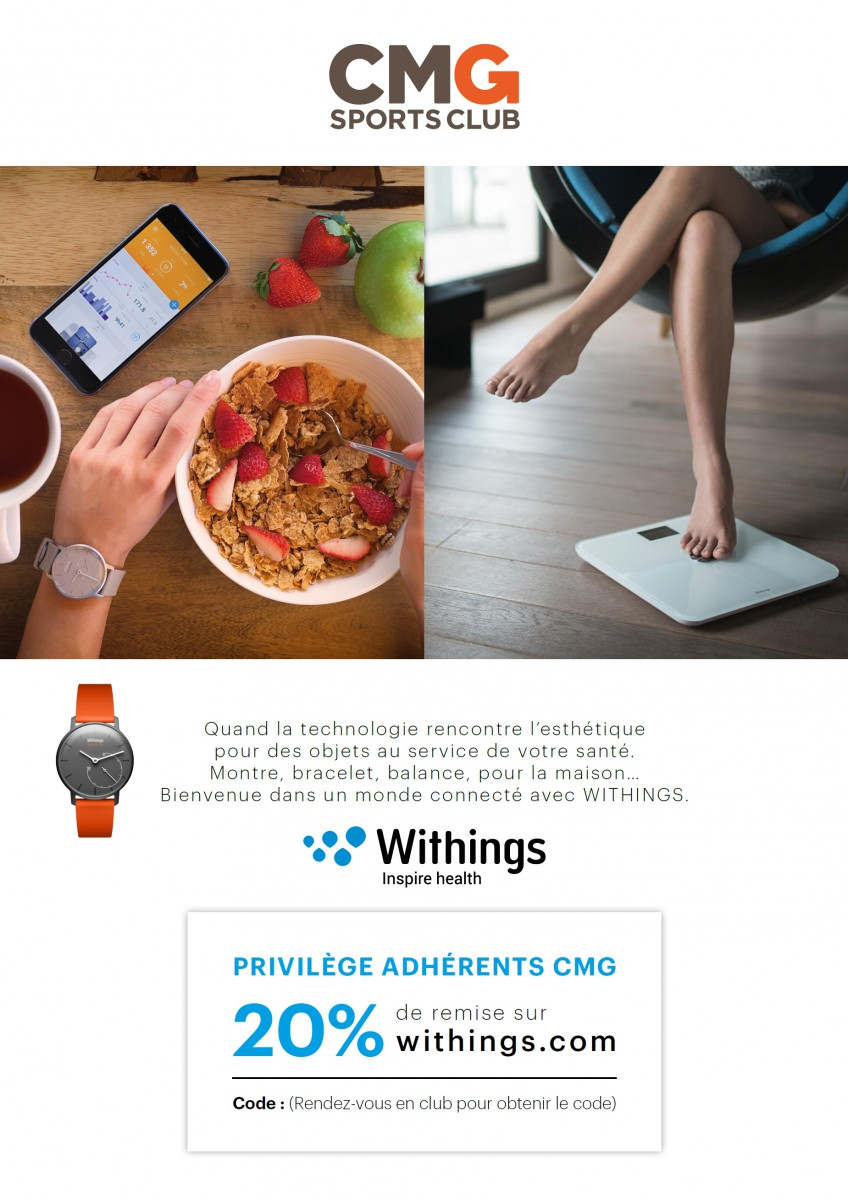 Affiche Withings CMG Sports Club